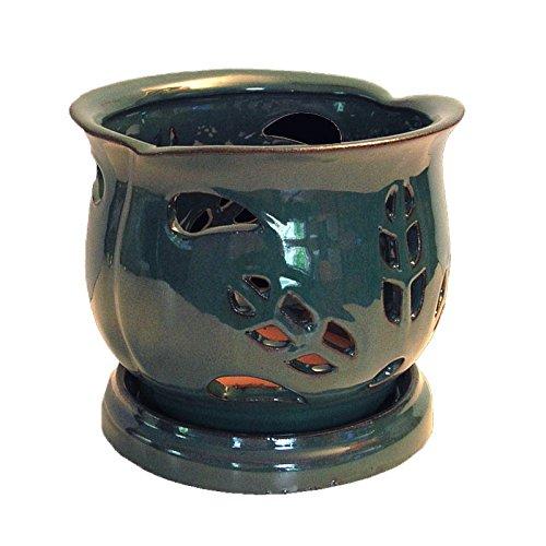 6 inch ceramic orchid pot