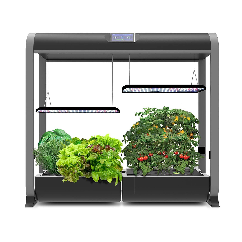 Aerogarden Harvest Wifi: 60W Dual LED AeroGarden Farm Plus Hydroponic Garden, 24