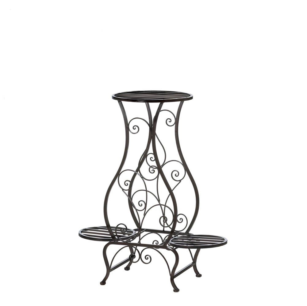 wrought iron plant stands